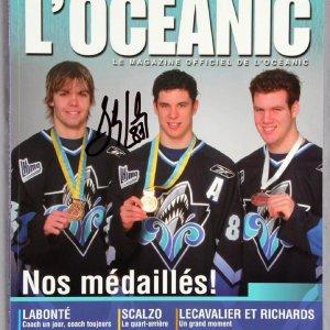 Sidney Crosby Signed 2004/2005 Season Oceanic Official Team Magazine