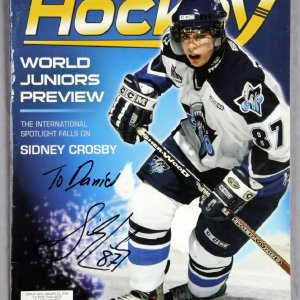 Sidney Crosby Signed Personalized to: Daniele Becket Hockey Guide