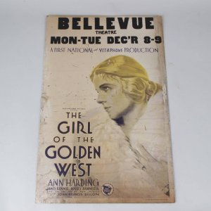 The Girl of the Golden West Starring Ann Harding Movie 14x22 Lobby Card