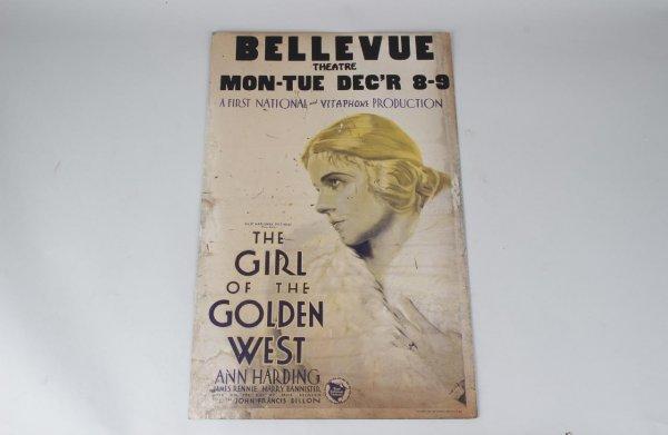 The Girl of the Golden West Starring Ann Harding Movie 14x22 Lobby Card