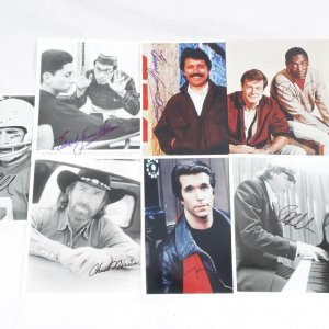 Actor Lot of Signed 8x10 Photos -  7 Incl. Bill Cosby