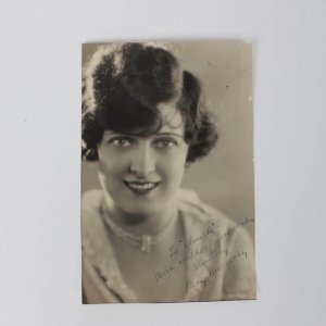 May McAvoy Silent-Film Era. Signed & Inscribed ( Worlds Of Good Wishes )  6x9 Sepia Tone Melbourne Spurr Vintage Portraiture