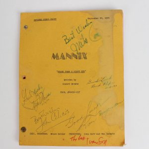 """1972 Mannix Television Show """"Tears From A Glass Eye"""" Signed By 7 Cast Members"""