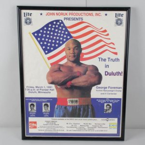 "1991 Boxing Great - George Foreman ""The Truth in Duluth"" Poster"