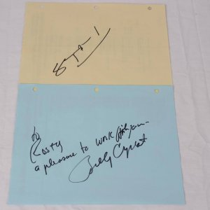 Two Comedians Actor Signed Production Daily Call Sheets - One Signed by Steve Martin & Other by Billy Crystal