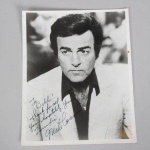 Mannix Actor - MIKE CONNORS Signed & Inscribed 8x10 B&W Photo