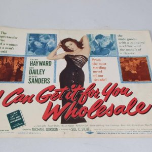 1951 I Can Get It For You Wholesale Drama Film Movie Lobby Card Starring Sam Jaffe