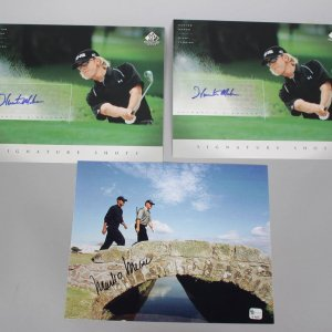 Trio of PGA Golfer Signed 8x10 Photos - Mark O'Meara and (2) Hunter Mahan SP Signatures