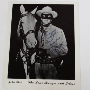 "Cowboy Greats Lash LaRue & John Hart ""The Lone Ranger"" Signed & Inscribed 8x10 Photos"