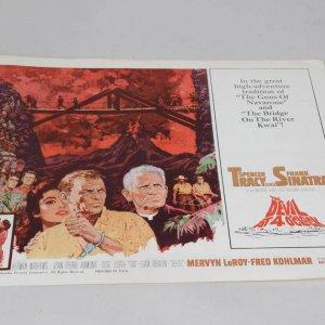 1961 The Devil At 4 O'Clock Spencer Tracy and Frank Sinatra Lobby Card