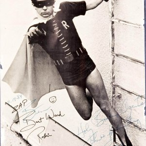 """Burt Ward Signed  Photo Insribed """"Holy Booking Agents"""" Directly from his Booking Agents."""