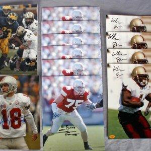 12 NCAA College Football 8X10 Signed Photos - Simon Fraser