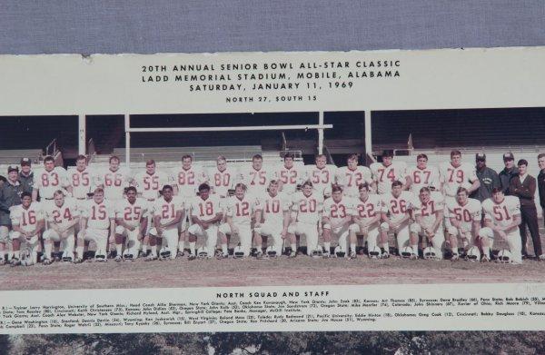 1969 - 20th Annual Senior Bowl All-Star Classic North & South Squad 11x14 Photo