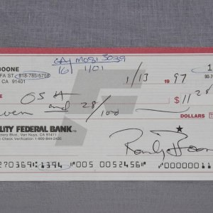 Country Singer - Randy Boone Signed Personal Check