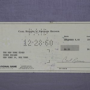 Actor - Carl Reiner Signed Personal Check