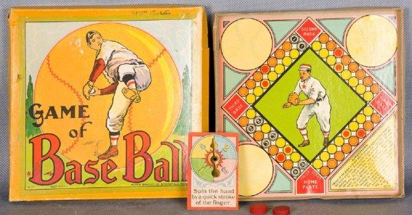 Vintage Board Game Milton Bradley Game of Baseball