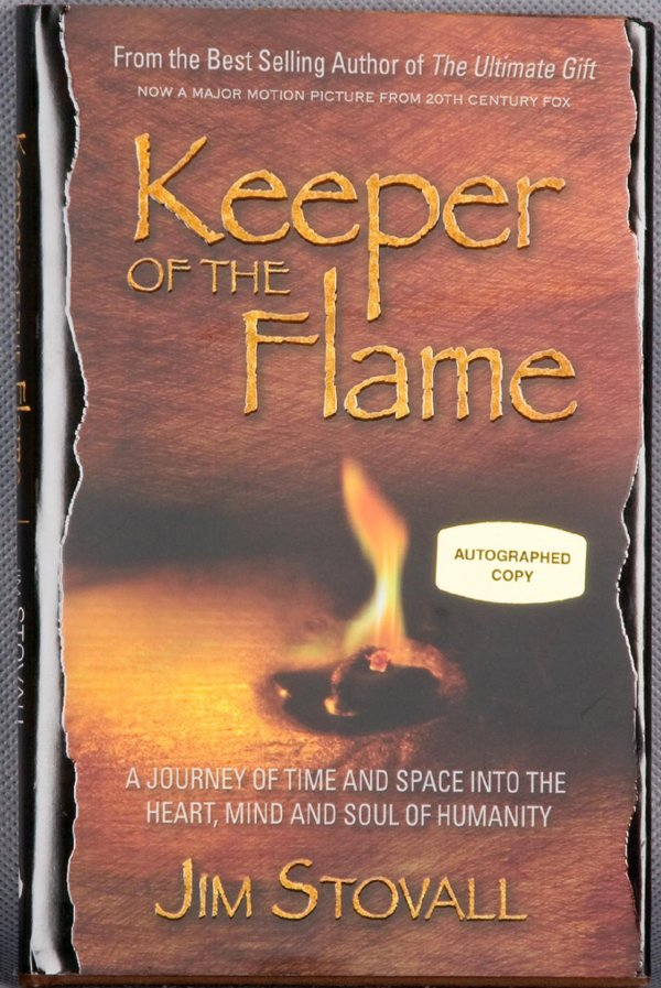 Keeper of the Flame Hardcover Book Signed by Author Jim Stovall