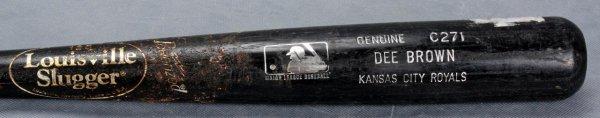 Kansas City Royals - Dee Brown Game-Used Louisville Slugger (C271) Bat