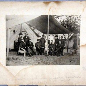 1864 Edward Bierstadt Artotype Print of Mathew Brady's Civil War Union Generals + 8 - (Featuring Grant)
