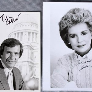 News Crew - Barbara Walters & Tom Brokaw Signed 8x10 Photos