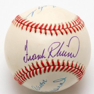 3000 Hit Club Signed Baseball - 6 Sigs. Incl. Pete Rose