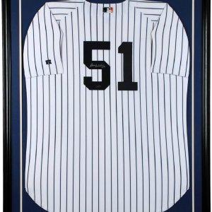 New York Yankees - Bernie Williams Signed Jersey Display (Steiner Holo)