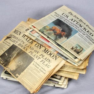 Large Lot of 16 Historical Newspapers - New York Times