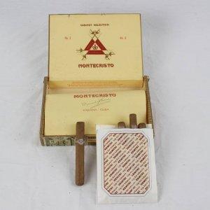 Pre-Embargo Pre -Castro Cabinet Selection Monte Cristo Habana Menendez Y Garcia  Box