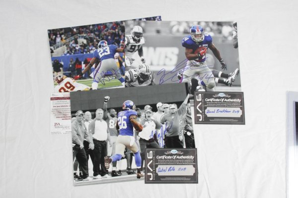 Trio of New York Giants Signed 11x14 Photos - Corey Webster