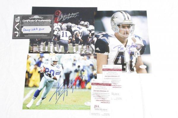 Trio of Dallas Cowboys Signed 8x10 Photos - Danny White