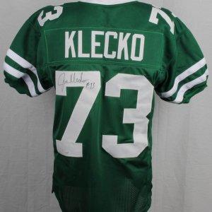 New York Jets - Joe Klecko Signed Inscribed ( + 13 ) Home Jersey