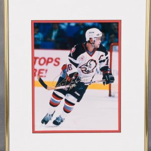 Pat LaFontaine Signed Photo Display