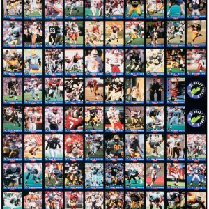 Two 1992 Classic Football Draft Picks Uncut Sheets