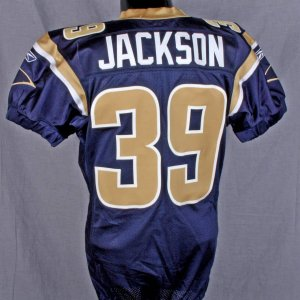 Steven Jackson 2007 Rams  Game-Worn-Used Vs Seahawks 11/25/07  Home Jersey NFL PSA Auction
