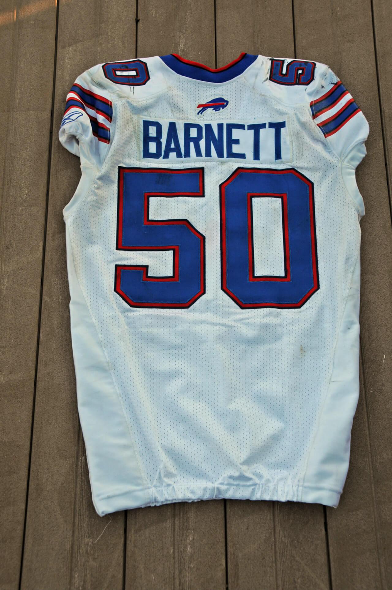 2011 Buffalo Bills - Nick Barnett Game-Worn Jersey NFL Auctions Certificate