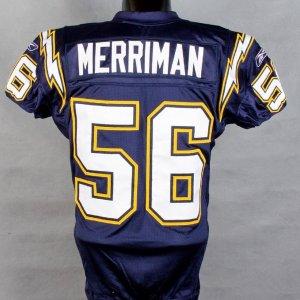 2006 Chargers Shawn Merriman Game-Worn  Pre-Season Home Jersey vs Sea Hawks w/Photo Match