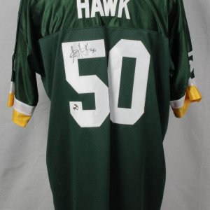 Green Bay Packers - A.J. Hawk Signed Jersey (Incl. Photo From Signing)-Legends Of The Field