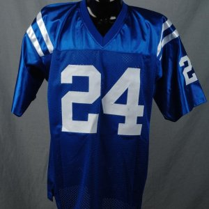 Lenny Moore  Baltimore Colts Signed & Inscribed HOF 75 Home Jersey Absolute Authentics