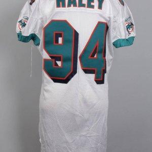 2001 Miami Dolphins - Jermaine Haley Game-Worn Jersey