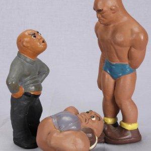 1941 Rittgers Wrestlers Complete Statue Set (3)
