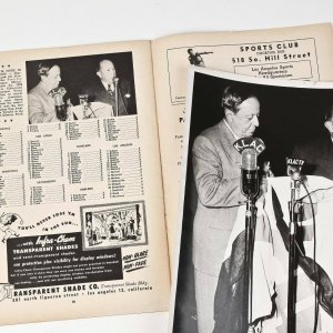1950 Hollywood Stars Program and Original Photo Used for Inside Page featuring Vintage Photo (Danny Goodman Collection)