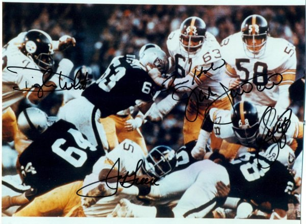 Steel Curtain Steelers Signed Dwignt White