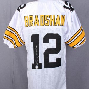 Steelers Terry Bradshaw Signed White Jersey PSA & JSA