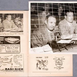 1950 Hollywood Stars Program and Original Photo Used for Inside Page featuring Gene Autry & Jack Sherman (Danny Goodman Collection)