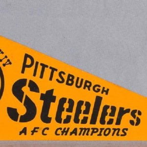 1980 Pittsburgh Steelers AFC Champions Pennant - Super Bowl XIV