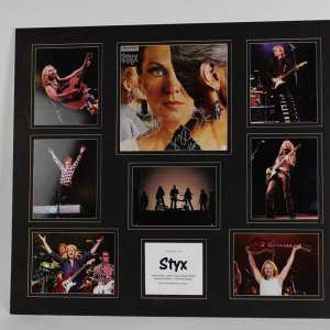 Styx Band Signed Pieces of Eight Album Cover Photo Display feat. Tommy Shaw