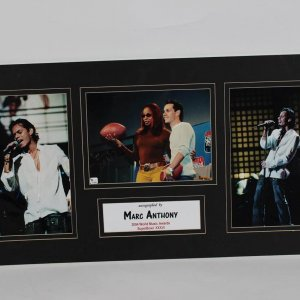 Singer Marc Anthony Autographed Music Awards 8x10 Matted Display. COA Global