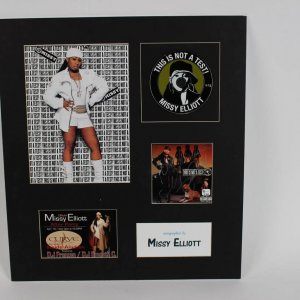 Missy Elliott Autographed This Is Not A Test CD Cover Display COA Global