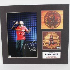 "Kanye West Signed 8x10 "" Best New Male Artist "" 2004 World Music Awards Display"