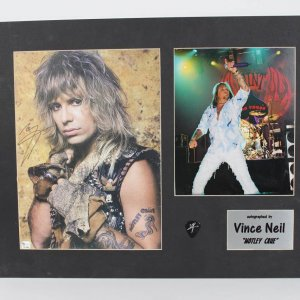 VINCE NEIL Signed MOTLEY CRUE 11x14 Color Photo Display Signature Display
